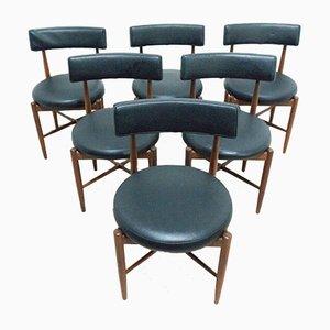 Mid-Century Fresco Esstisch & Stühle von G-Plan, 1960er, Set of 7