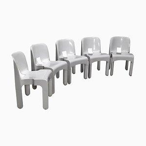 Weißer Universale Plastik Stuhl von Joe Colombo für Kartell, Italien, 1967