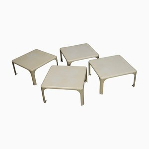 Demetrio Stackable Side Tables by Vico Magistretti for Artemide, Italy, 1964, Set of 4