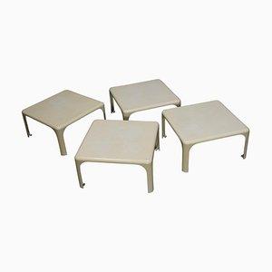 Tables d'Appoint Empilables Demetrio par Vico Magistretti pour Artemide, Italie, 1964, Set de 4