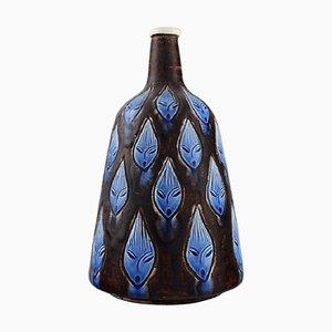 Vase in Glazed Ceramic with Female Faces by Hertha Bengtsson for Rörstrand, 1960s