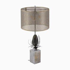 Thistle Tischlampe aus Bronze und Messing von Maison Charles, 1970er