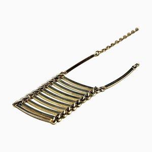 catena di Venezia con il pendente della collana decorata con ambra, argento sterling 925.