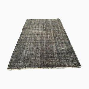 Tappeto vintage in lana grigia