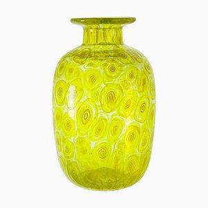 Uranium Yellow Murrina Vase from Cenedese, 1960s