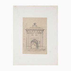 Roman Gate Bleistift auf Papier von Werner Epstein, 1923