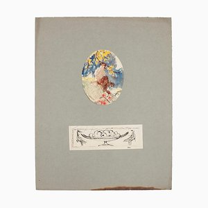Landschafts- und Stillleben Bleistift, Aquarell und Stift auf Papier, 1920er