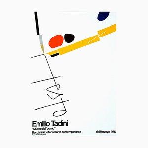 Affiche d'Exposition Offset par Emilio Tadini, 1976