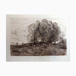 Gravure à l'Eau-Forte Landscape # 4, 1850