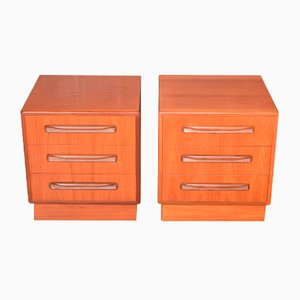 Teak Fresco Nightstands by Victor Wilkins for G-Plan, 1960s, Set of 2