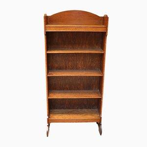 Libreria antica aperta in quercia dorata