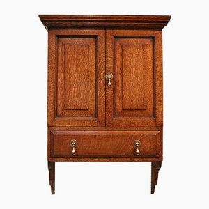 Antique Oak 2-Door Wall Cabinet