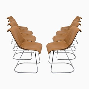 Talus Chairs by Vittorio Introini for Saporiti, 1970, Set of 8