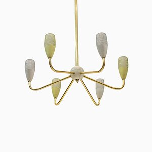 Mid-Century Sputnik Chandelier in the Style of Stilnovo