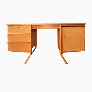 Mid-Century EB04 Birch Series Writing Desk by Cees Braakman for Pastoe, the Netherlands, 1952