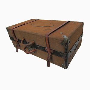 Suitcase in Wood, Metal, Jute & Leather, 1920s