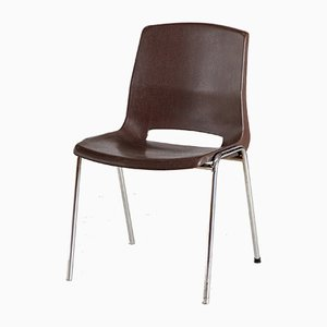 Vintage Plastic Stackable Chair, 1970s