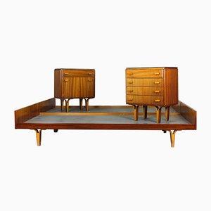 Juego de dormitorio vintage de Novy Domov, años 60. Juego de 4
