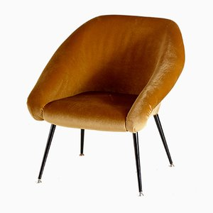 Velvet Köln Lounge Chair, 1970s