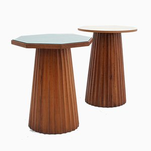 Vintage Italian Formica Side Tables, 1950s, Set of 2