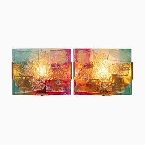 Appliques Murales Chartres en Verre par Willem van Oyen pour Raak, 1970s, Set de 2