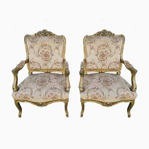 Antique Baroque Armchairs, Set of 2