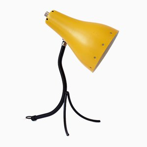 Yellow Cocotte Lamp with Perforated Lampshade, 1950s