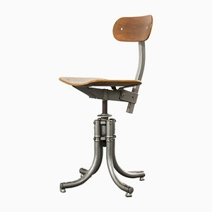 French Bienaise Swivelling Atelier Desk Chair, 1960s