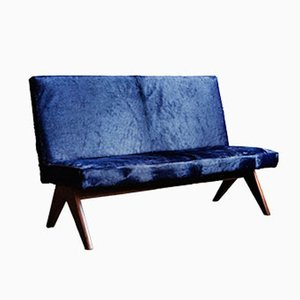 Public Bench in Midnight Blue by Pierre Jeanneret