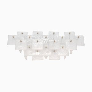 Large Austrian Glass Wall Sconce by J. T. Kalmar for Kalmar, 1970s