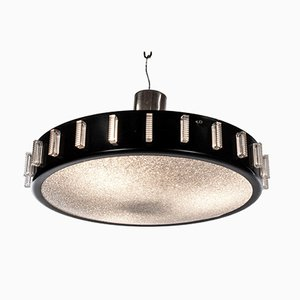 Drum Flush Mount Chandelier in the Style of Stilnovo, Italy, 1950s