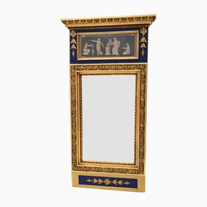 Antique Mirror with Original Painting