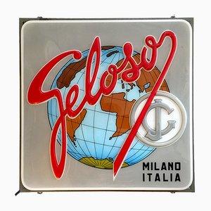 Cartel luminoso italiano de Geloso, años 50