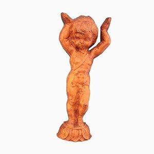 Column Figure in the Shape of a Putto in Ceramic, 1920s