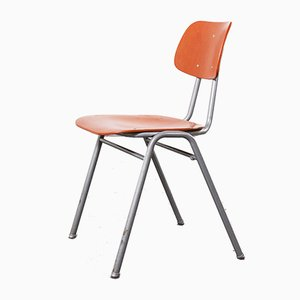 Red Stacking School University Dining Chair, 1960s