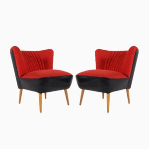 Red Cocktail Chairs, 1960s, Set of 2