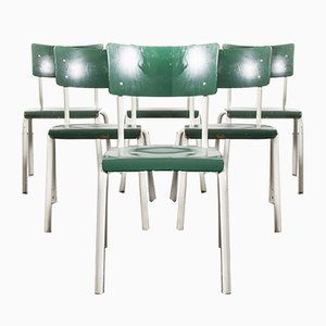German Army Green Stacking Dining Chairs from Michael Thonet, 1970s, Set of 6