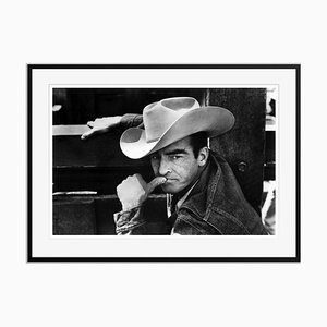 Montgomery Clift in the Misfits Archival Pigment Print Framed in Black by Everett Collection