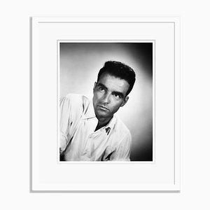 Montgomery Clift Portrait Archival Pigment Print Framed in White by Everett Collection