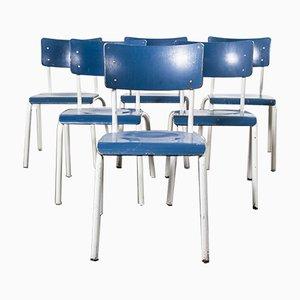 Stapelbare Deutsche Militärblaue Esszimmerstühle von Michael Thonet, 1970er, 6er Set