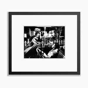 George Stevens, Montgomery Clift & Elizabeth Taylor on Set Archival Pigment Print Framed in Black by Everett Collection