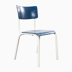 German Military Blue Stacking Dining Chair by Michael Thonet, 1970s