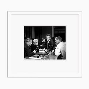 The Set of Judgement at Nuremberg Archival Pigment Print Framed in White by Everett Collection