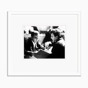 Montgomery Clift & Maximilian Schell in Rehearsals Archival Pigment Print Framed in White by Everett Collection