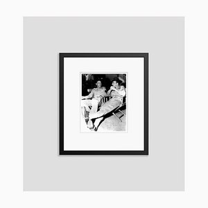 Burt Lancaster & Montgomery Clift on Set Archival Pigment Print Framed in Black by Everett Collection