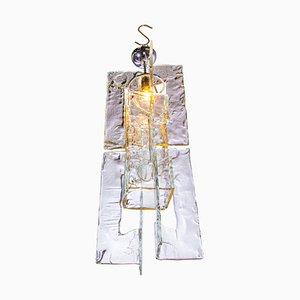 Iced Murano Glas Kronleuchter von Carlo Nason für Mazzega, Italien, 1960er