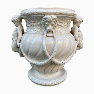 Art Nouveau Porcelain Garden Vase with Decor in Relief, 1920s