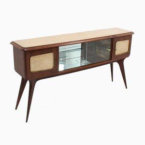 Vintage Italian Parchment Bar Cabinet, 1950s