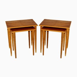 Swedish Nesting Tables in Teak and Oak, 1960s