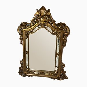 Louis XV Stil Spiegel mit Vergoldetem Holzrahmen, 1950er